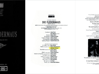 DIE FLEDERMAUS PROGRAM